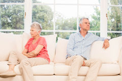 Senior couple not speaking after an argument Stock Images