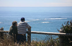 A Senior Couple at Ocean Stock Images