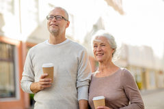 Free Senior Couple On City Street Stock Image - 46443161