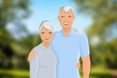 Senior couple outdoor Stock Image