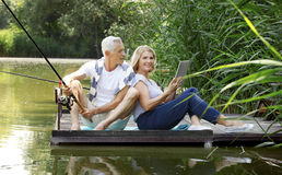 Senior couple outdoor Royalty Free Stock Image