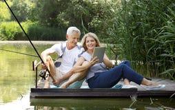 Senior couple outdoor Stock Photo