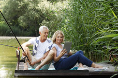 Senior couple outdoor Royalty Free Stock Images