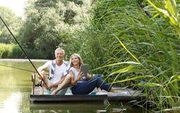 Senior couple outdoor Stock Photography