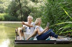 Senior couple outdoor Stock Photos