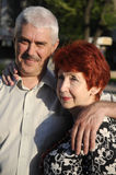 Senior Couple Outdoor. They Love Each Other. Stock Images