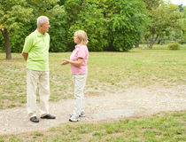 senior couple outdoors royalty free stock photography