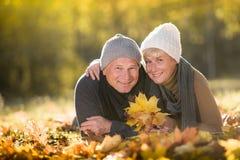 Senior couple outdoors Royalty Free Stock Photography