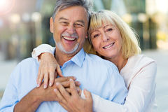 Senior Couple Outdoors Royalty Free Stock Images