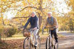Senior couple outdoors Stock Photo