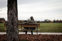 Senior Couple Outdoors Royalty Free Stock Photo