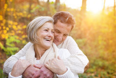 Senior couple outside Stock Image