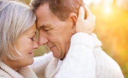 Senior couple outside Stock Photos