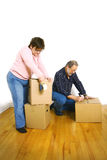 Senior couple packing Stock Photo