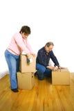 Senior couple packing stock photo