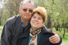 Senior couple in the park Royalty Free Stock Photo