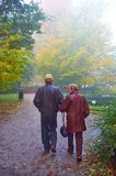 Senior couple in the park Royalty Free Stock Image