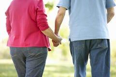 Senior couple in park Stock Photos