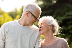 Senior couple in park Royalty Free Stock Image