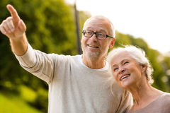 Senior couple in park Stock Photography