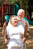 Senior Couple at Play Stock Images