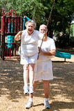 Senior Couple - Playground Fun Stock Photography