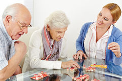 Senior couple playing Bingo Stock Images