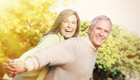 Senior couple portrait. Royalty Free Stock Images