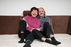 Senior couple - portrait at home Stock Photography