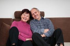 Senior couple - portrait at home Stock Photos