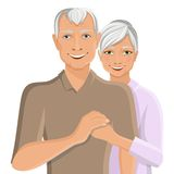 Senior couple portrait Royalty Free Stock Photography
