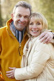 Senior couple portrait outdoors in winter Royalty Free Stock Photography