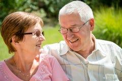 Senior couple portrait Royalty Free Stock Photo