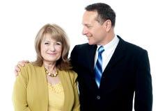 Senior couple posing together Stock Photos