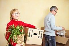 Senior couple preparing for Royalty Free Stock Image