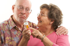 Senior Couple & Prescription Stock Photos
