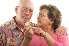 Senior Couple & Prescriptions Stock Images