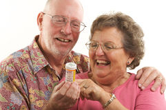 Senior Couple & Prescriptions Stock Image
