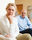 Senior couple after quarrel Stock Image