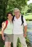 Senior couple on a rambling day Stock Photos