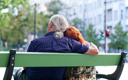 Senior couple relaxing Stock Image