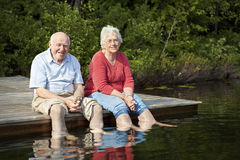 Senior couple relaxing Stock Photos
