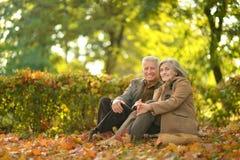 senior couple relaxing Stock Image