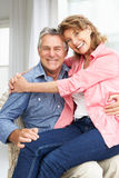 Senior couple relaxing at home Royalty Free Stock Images