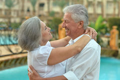 Senior couple relaxing Royalty Free Stock Photos