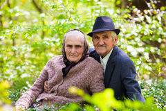 Senior couple relaxing outdoor Royalty Free Stock Images