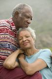 Senior couple relaxing outdoors Stock Photography