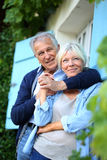 Senior couple relaxing outdoors Royalty Free Stock Photos