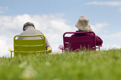 Senior couple relaxing in the p Stock Photo
