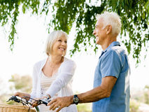 Senior couple relaxing in park Stock Image